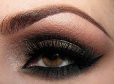 Traditional smokey eyeshadow #brown #eyeshadow #liner #bold #eye #makeup