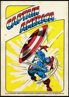 Captain America - 1979 cereal premium sticker - John Buscema Art