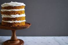 Warm autumn spices and pumpkin make a moist, tender cake that begs for cream cheese frosting.
