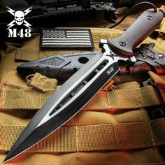 Swords And Daggers, Knives And Swords, Tactical Knives, Tactical Gear, Boot Knife, Armas Ninja, M48, Dagger Knife, Combat Knives