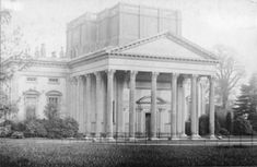 Gatton Hall, new portico, 1904. Photographic Survey and Record of Surrey no. 992