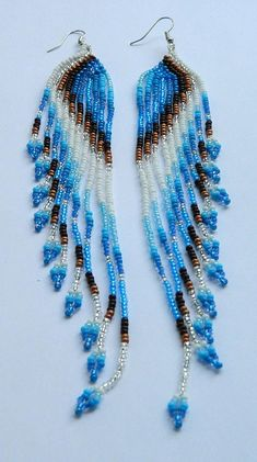 Beaded earrings Native American Beaded Earrings Boho Style