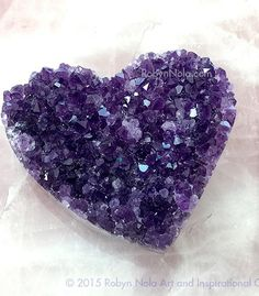 Love is in the earth. Beautiful Amethyst Crystal Heart #crystals