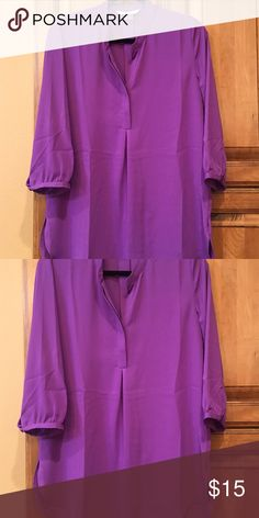 Peter Nygard Size 10 purple blouse Mardi Gras & LSU Lovers don't miss out perfect go to blouse Peter Nygard Tops Blouses