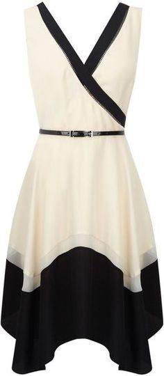 Coast Black Wrap Dress