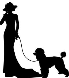 Free Image on Pixabay - Poodle, Woman, Silhouette, Dog Tree Illustration, Graphic Illustration, Illustrations, Poodle Drawing, Dog Separation Anxiety, Dog Haircuts, Woman Silhouette, Silhouette Art, Make A Donation