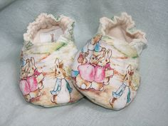 PETER RABBIT and family Baby ShoesBeatrix Potter by MeemsSeams