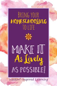 Ideas for bringing your Waldorf homeschooling lessons alive. Rudolf Steiner suggested that in making lesson plans for our children, we come up with creative and fun learning activities that bring the lessons alive. Weave in the lively arts. Great tips for Inspired Learning, Fun Learning, Learning Activities, Creative Activities, Teaching Resources, Curriculum Planning, Homeschool Curriculum, Homeschooling, Reggio
