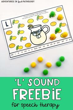 Enjoy this hands-on articulation freebie for the 'l' sound. Teach the 'l' sound in isolation and syllables with these no-prep sheets. Fun, free articulation activities for students in speech therapy! Articulation Therapy, Articulation Activities, Speech Activities, Speech Pathology, Speech Language Pathology, Speech Therapy Activities, Language Activities, Speech And Language, Childhood Apraxia Of Speech