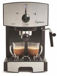 Shop a great selection of Capresso Stainless Steel Pump Espresso Cappuccino Machine Black/Stainless. Find new offer and Similar products for Capresso Stainless Steel Pump Espresso Cappuccino Machine Black/Stainless. Cappuccino Maker, Espresso Maker, Espresso Cups, Espresso Coffee, Coffee Maker, Double Espresso, Italian Espresso, Italian Coffee, Espresso Machine Reviews