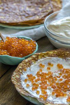 Blini Style Caviar Crepes