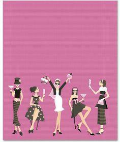Bridal shower Bachelorette Invitations, Bachelorette Parties, Invites, Spa Day Party, Bride Shower, Pop Art Girl, Gold Bridal Showers, Team Bride, Blush And Gold