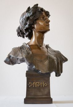 """Sappho"" by Bläsche for Reps & Trinte Magdeburg, bronzed terracotta, 63 cm"