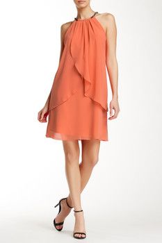 SL Fashions Embellished Halter Neck Mini Dress