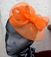be447070 bright orange fascinator millinery burlesque wedding hat ascot race bridal  party Main Colors, Ascot,