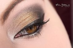 [AMU] Urban Decay Vice 3 Look  Inner corner: Bobby dazzle Lid: Brokedown Outer V and crease: Revolver