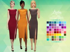 City Living Origami Dress - Recolor • 64 Colors • Standalone & Custom Thumbnail • Teen to Elder • Requires City Living! Download Links under the cut! [[MORE]]DOWNLOAD: SimFileShare | Mediafire
