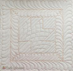 Artes de Paula Louceiro: Frente de almofada quiltada