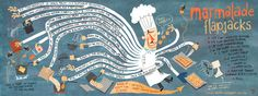 """delightfully illustrated cookbook """"They Draw and Cook: 107 Recipes Illustrated by Artists from Around the World"""""""