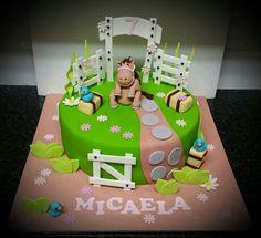 Cute horse cake for a girl