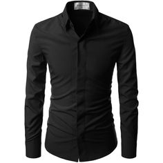 NEARKIN Super Stretchy Hide Button Point Wrinkle Free Dress Shirts at... ($24) ❤ liked on Polyvore featuring men's fashion, men's clothing, men's shirts, men's dress shirts, guys, mens button shirts, mens stretch shirts, mens dress shirts, guy harvey mens shirts and mens stretch dress shirt
