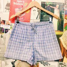 Hustle & the Vixen x Equipment Plaid High Waist Drawstring Shorts