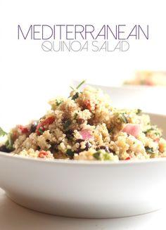 Mediterranean Quinoa Salad | Hummusapien