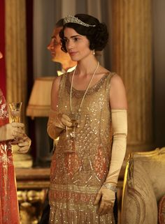 Janet Montgomery as Freda Dudley Ward in Downton Abbey Series 4 Christmas Special (2013).