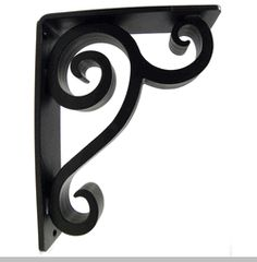 decorative metal brackets for countertops. wrought iron corner brackets  counter support decorative shelf forged Black Iron Brackets Scroll Design Shelf Bracket 7 1 8 x 6
