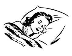 Sleeping Lady Retro Images Auf thegraphicsfairy.com http://www.pinterest.com/kytetommy/retro-ladies/