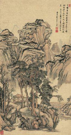 Wang Hui(王翬) ,   水阁幽人图
