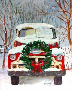 Vintage Red Truck Christmas Images Vintage Rote Lkw Weihnachtsbilder Teenschristmaspictures Christmaspicturesbaby Vintage Red Truck Christmas Images Christmas Pictures Baby To Draw Christmas Pictures Funny Christmas Pictures - Besondere Tag Ideen Christmas Red Truck, Christmas Scenes, Noel Christmas, Vintage Christmas Cards, Rustic Christmas, Christmas Projects, Winter Christmas, Christmas Wreaths, Christmas Decorations