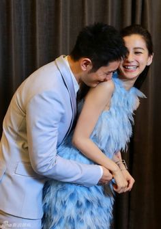 Huang Xiaoming and Angelababy attending a Beijing press - Huang Xiaoming 黄晓明