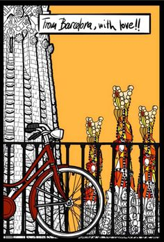 "#woodenpostcards ""From Barcelona, with love!"" #Editorialmediterrania"