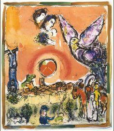 Sun over Saint-Paul de Vence - Marc Chagall, 1962 .............#GT