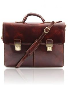Italian Leather briefcases Bolgheri Leather briefcase 2 compartments Dark Brown Full grain vegetable tanned leather hand-buffered, 2 compartments Discover how to customize your bag and make it unique. Business Briefcase, Leather Briefcase, Business Fashion, Business Style, Classic Collection, Vegetable Tanned Leather, You Bag, Italian Leather, Dark Brown