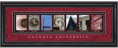 The pictures spell Colgate.  All taken on the campus of Colgate University.  @Colgate University  #colgate