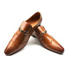 Salvatore Ferragamo Brown Leather Ariston Oxfords Men Shoes Cheap