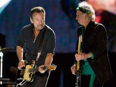 7 incredible photos of Rolling Stones + Bruce Springsteen together on stage | Gigwise
