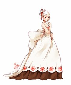 So elegant... without the brown underneath, I want this to be my wedding dress! Cheesecake fullbody by meago.deviantart.com