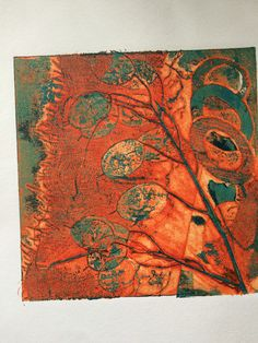 Viscosity collagraph by Nicola Jeffreys Collagraph Printmaking, Nature Sketch, Gelli Printing, Teaching Art, Watercolors, Collages, Watercolor Art, Artworks, Abstract Art