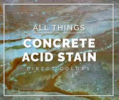 Acid stained concrete floors is a low-cost design option that yield stunning results with minimal expertise for those DIY Stay-at-Home improvements Concrete Acid Stain Colors, Acid Stained Concrete Floors, Acid Concrete, Stencil Concrete, Concrete Sealer, Concrete Overlay, Concrete Patio, Concrete Countertops, Cement Art