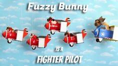 Fuzzy Bunny is a Fighter Pilot (Episode 1) [Tiny Hamsters] #fuzzybunny #tinyhamsters #fuzzydreams #animals #pets #funny #viral #hamster #bunny #fighterpilot #aviation
