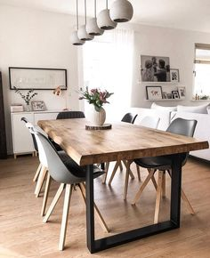 Hippie Home Decor Most popular of dining room tables design ideas in a contemporary style 14 - Mos.Hippie Home Decor Most popular of dining room tables design ideas in a contemporary style 14 - Mos. Dining Room Table Decor, Dining Room Design, Dining Room Sets, Dinning Room Ideas, Grey Dining Room Chairs, Dining Room Storage, Room Decor, Contemporary Dining Room Lighting, Contemporary Style