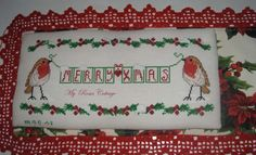S8  Merry Xmas  di myrosescottage su Etsy