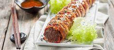 Bbq Gehaktrol Met Bacon Sushistyle recept | Smulweb.nl