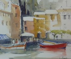 pen and wash buildings Paris Rooftops, Portofino Italy, Pen And Wash, Beautiful Paris, Pen And Watercolor, Watercolours, Buildings, Gallery, Flowers