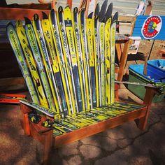 Adirondack Ski Bench