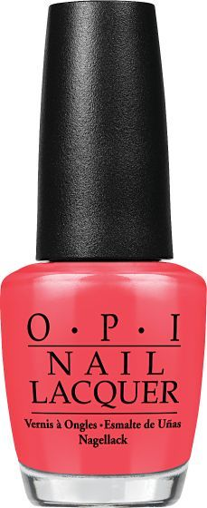OPI Nail Lacquer - Red Lights... Where? 0.5 oz - #NLH61