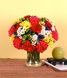 FIESTA Carnations, Mums & Violet Statice Flowers Brighten up her day with rainbow colors, made up of this wonderful bouquet of fresh carnations and different varieties of mums. This will definitely bring out the best smile within her! Fresh Flowers, Spring Flowers, Flowers Today, Good Smile, Flower Delivery, Carnations, Rainbow Colors, Philippines, Serving Bowls